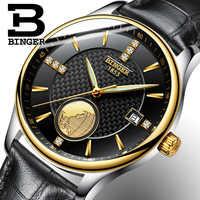 Marke Schweiz Welt Karte Männer Sapphire Business Uhren Mechanische Kalender Armbanduhr Wasserdicht Echt Leder Uhr Selbst Wind