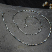 2mm 925 Sterling Silver Rope Chain Necklace Statement S925 Silver Twisted Chain Necklace 45cm 50cm 55cm 60cm 65cm 70cm 75cm цена 2017