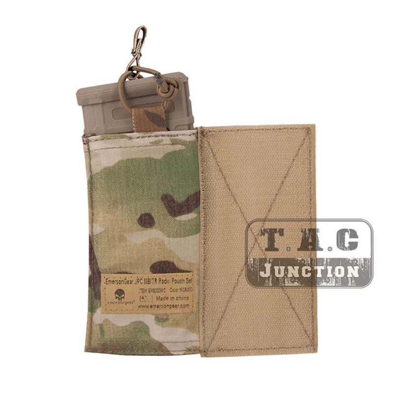 Image 3 - Emerson Tactical MBITR Radio Pouch and  M4 Magazine Pouch Combo with Hook & Loop Multicam-in Pouches from Sports & Entertainment