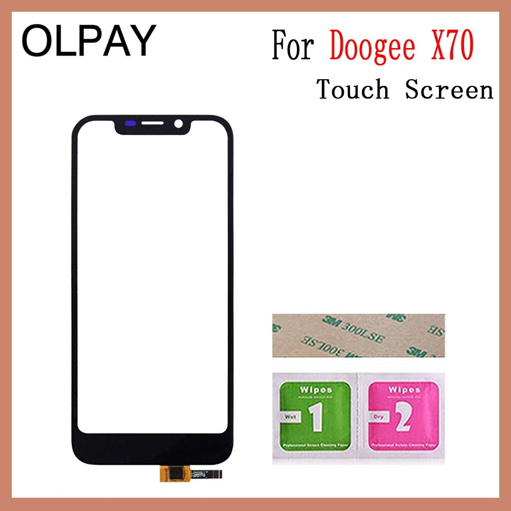 Image 3 - OLPAY 5.5'' For Doogee X70 X 70 Touch Screen Glass Digitizer Panel Lens Sensor Glass Free Adhesive And Wipes-in Mobile Phone Touch Panel from Cellphones & Telecommunications