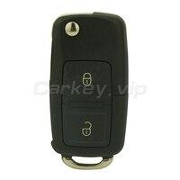 Remotekey 2 sztuk Klapki samochód zdalnie klucz HU66 dla VW volkswagen Golf Passat Lupo Polo 2 przycisk 1J0 959 753 N chipie id48 433 Mhz