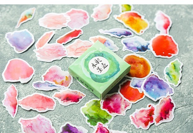 40PCS-box-Color-Cute-Marble-Paper-Sticker-Decoration-Decal-DIY-Album-Scrapbooking-Seal-Sticker-Stationery-Gift(16)