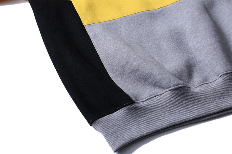 Color Block Patchwork Fleece Hoodies 9