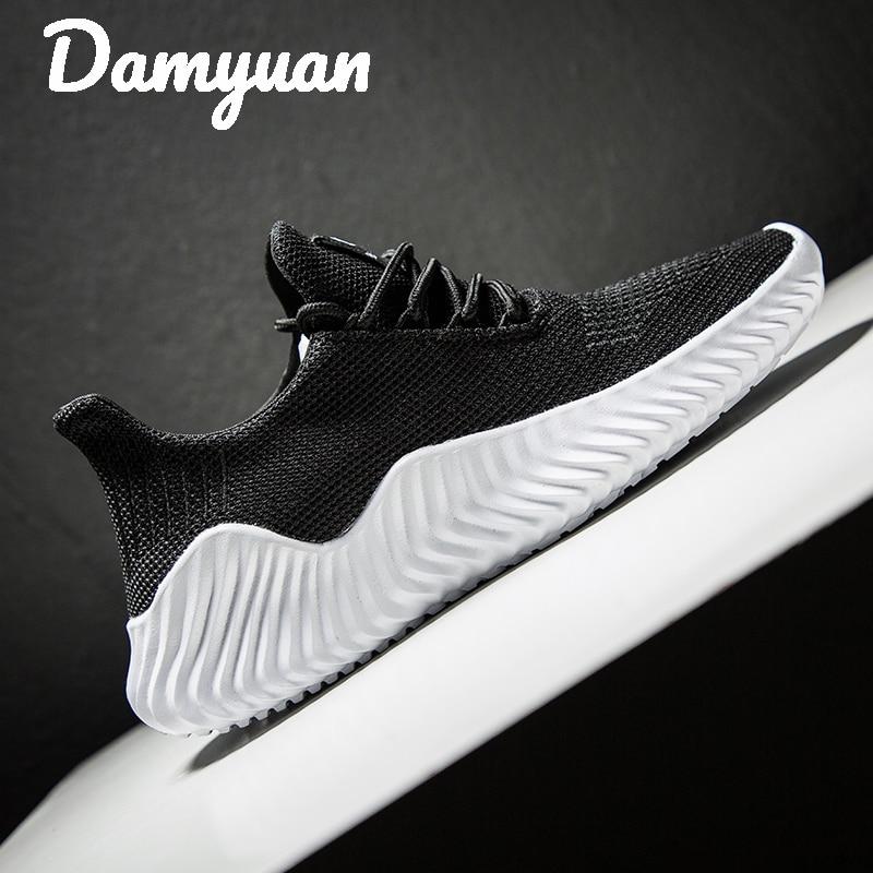 Mega Deal #0409 Summer Sneakers Men Flyknit Breathable