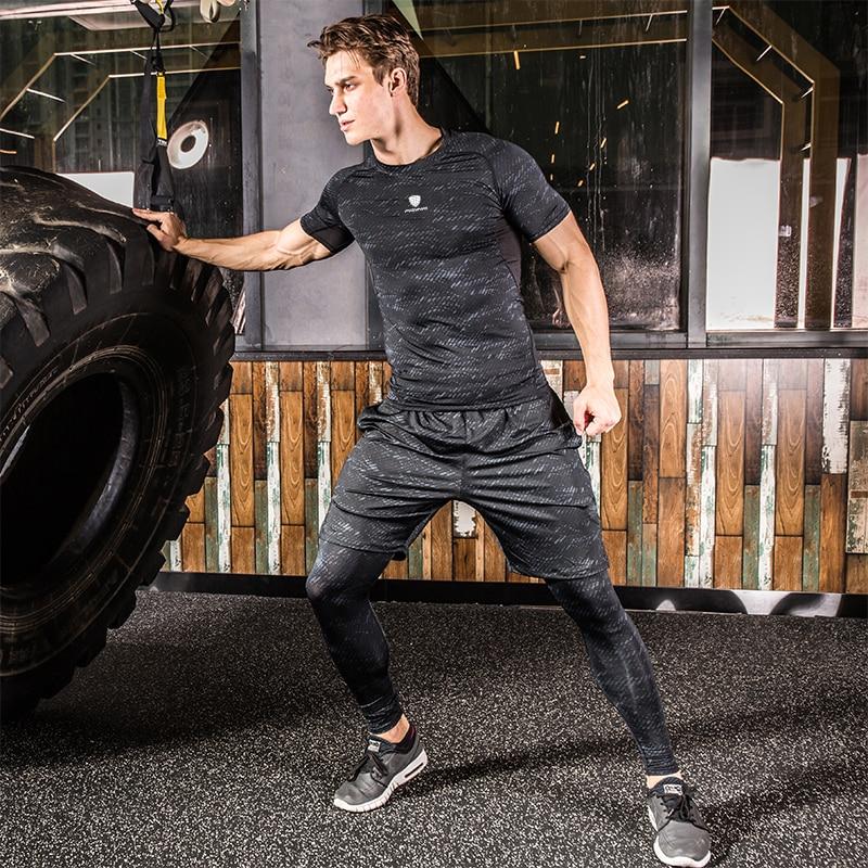 ginásio fitness collants jogging rashgard treino shorts mma