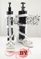 Magi Cosplay Sharrkan White Boots Tailor-Made
