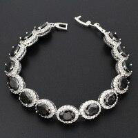 Fashion Hight Quality Hermosa Jewelry 925 Sterling Black Onyx Silver Bracelet Bracelt Bracelet HS0057B