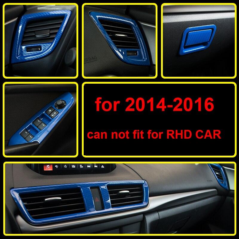 13 pièces pour Mazda 3 Axela à 2014-2016 bleu en fibre de carbone motif décoration intérieure