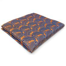"""UH26 оранжевый Пейсли мужской, карманный, квадратный шёлковый жаккардовый тканый бренд hanky Свадьба 12,6"""""""