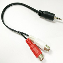 3.5 MM Stereo Male Mini Plug to 2 Female RCA Jack Audio Adapter Cables 1/8 2-RCA Y Adaptor Wire Two Color Coded RCA Plug 6 inch