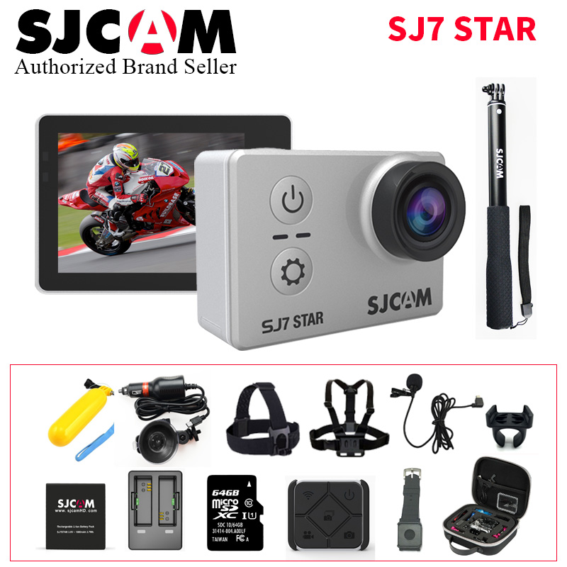 sjcam sj5000 plus ambarella a7ls75 sport camera SJCAM SJ7 Star Wifi Action Camera Ambarella A12S75 4K 30fps Gyro 2.0 Inch Touch Screen Sport Camcorder Diving SJ 7 Mini DV CAM