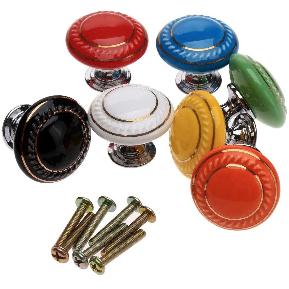 VADIA 1 PC Gabinete Puxadores para Móveis De Cerâmica Maçanetas Wardrobe Da Gaveta Do Armário Da Cozinha Knob Puxador Ferragem da Mobília