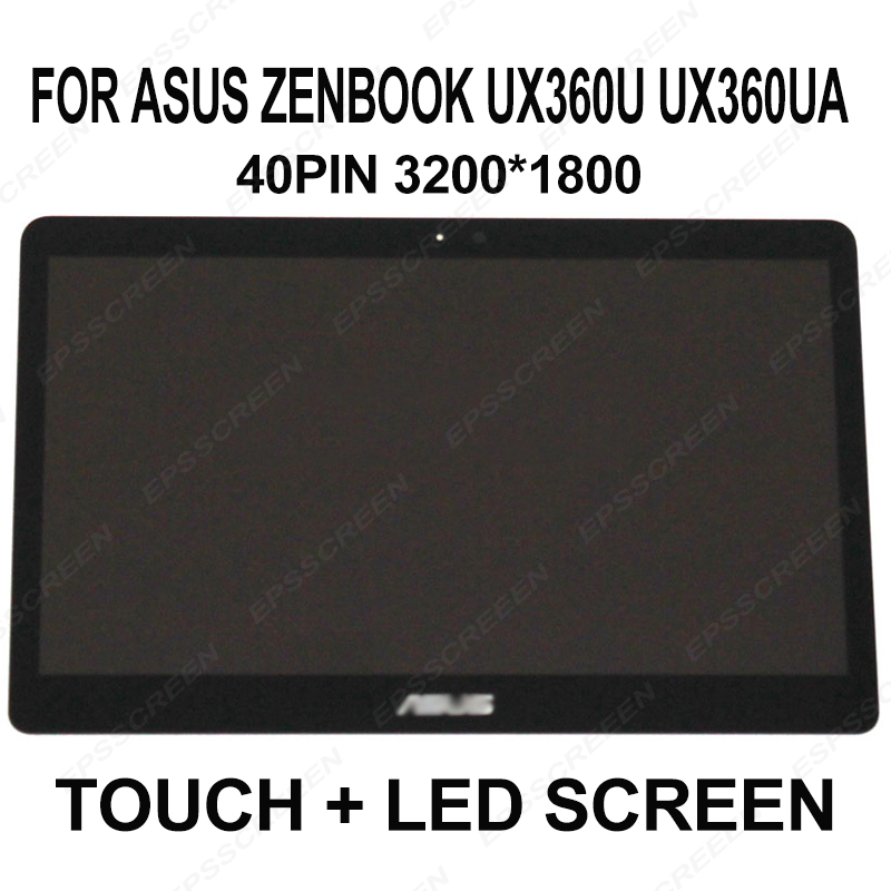 for Asus Zenbook UX360U UX360UA LCD Screen Touch Digitizer Assembly 3k UHD 3200 1800 laptop panel