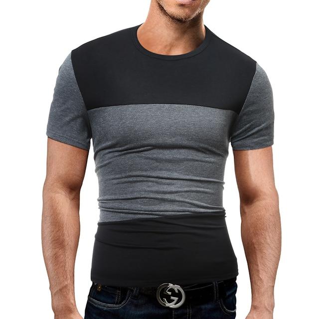 2018 New Fashion Brand Men Clothes Short Sleeve Slim Fit T Shirt Mens T-Shirt Casual Male T Shirts 3XL