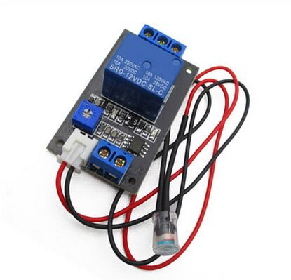 Photoresistor relay. The control module / light control switch / without light sensor module. 12V DC12V Free Shipping 480l h portable wash device car washing machine cleaning pump household high pressure car wash pump