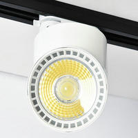 Dimmable LED Tracklights 10W 15W COB LED Rail Lamps Spotlight AC110V/220V/AC240V COB LED Track Light Aluminum body 15pcs/lot