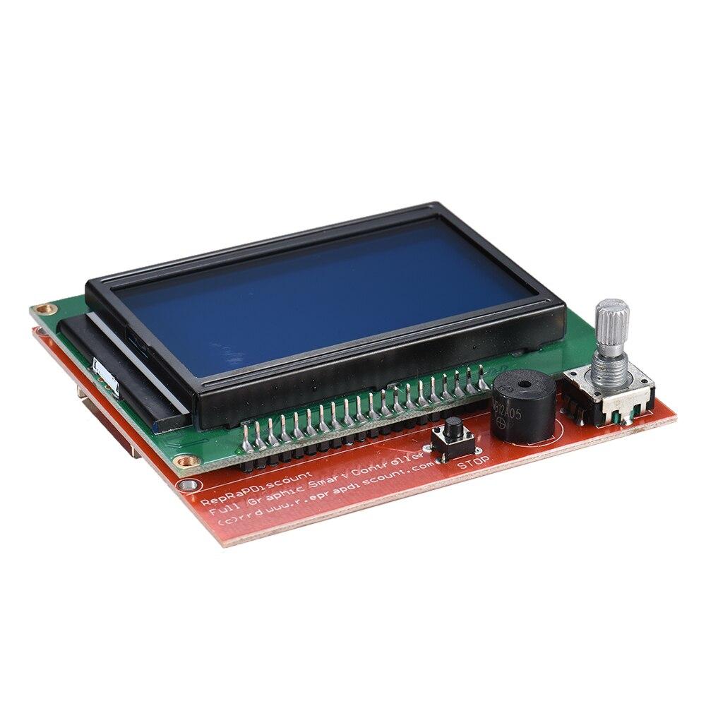Carte de contrôle de carte mère d'imprimante 3D V1.3 avec 12864 accessoires d'imprimante 3D de Module d'écran d'affichage d'affichage à cristaux liquides