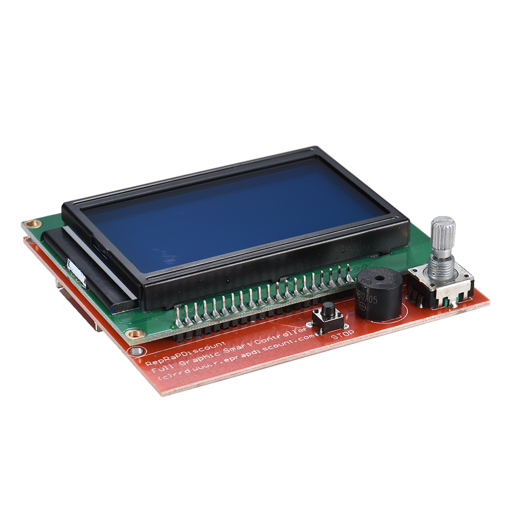 V1.3 3D Printer Motherboard Control Board with 12864 LCD Display Screen Module 3D Printer Accessories maitech 03100628 3d printer temperature control board green