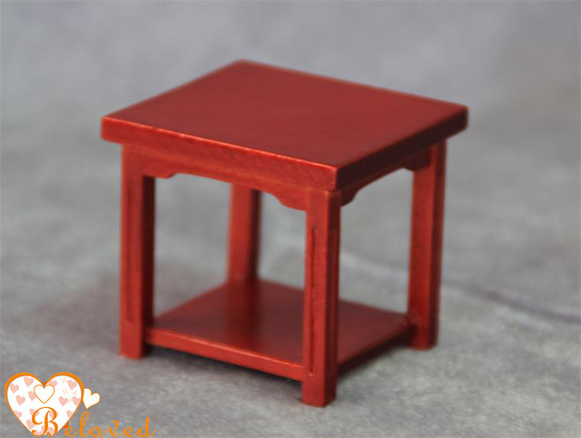 Beautiful Dollhouse Furniture Mini Wooden Coffee Tea Table Teapoy of     Beautiful Dollhouse Furniture Mini Wooden Coffee Tea Table Teapoy of The  Square for Children s Gift Doll