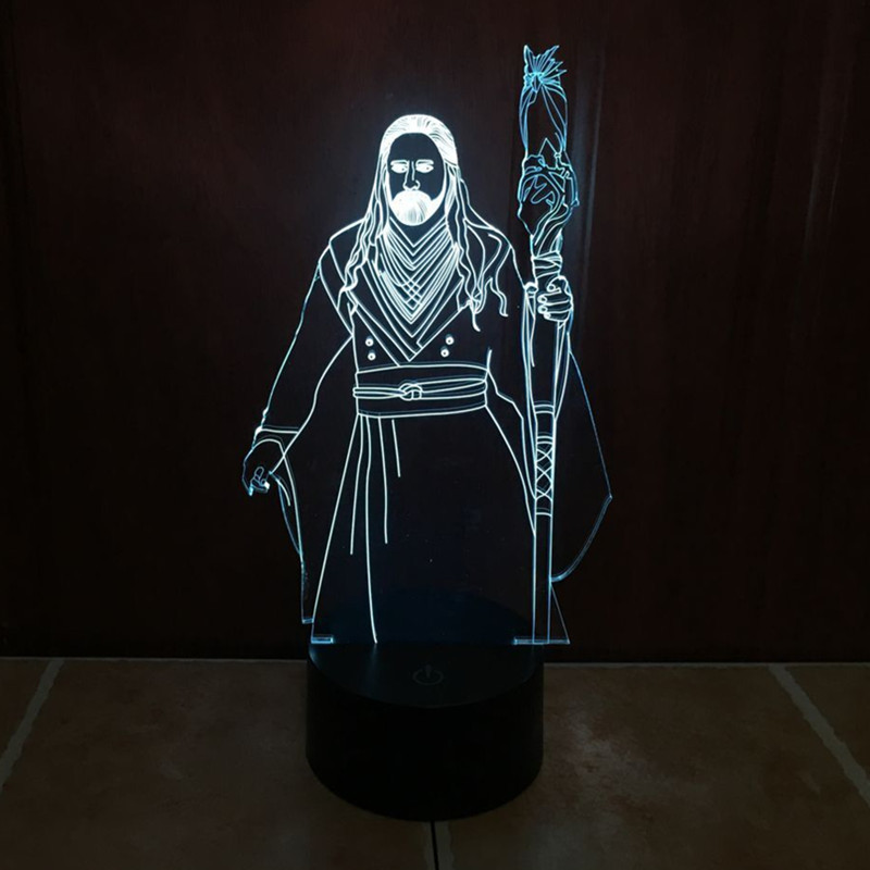 new world of Warcraft 3D lights colorful touch LED visual lights gift decorative atmosphere