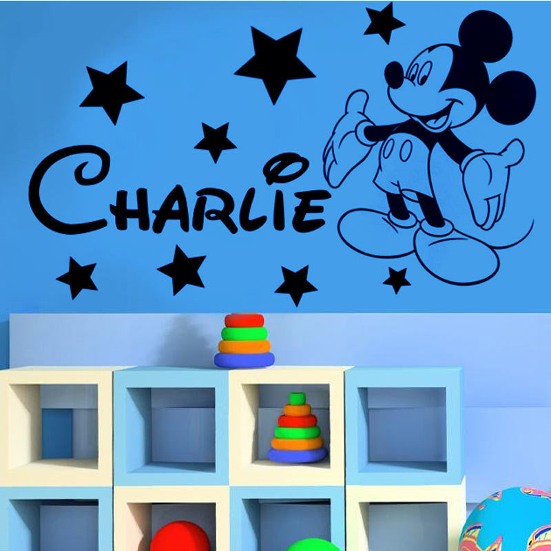 Family Stickers Mickey mickey Mouse Personalised name boys bedroom ...
