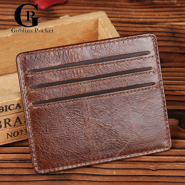Cowhide! Ultra-thin Wallet 6CC Leather Card & ID Holders Mini Wallets Credit Card Organizer For Men/Women Card Holder Card Case