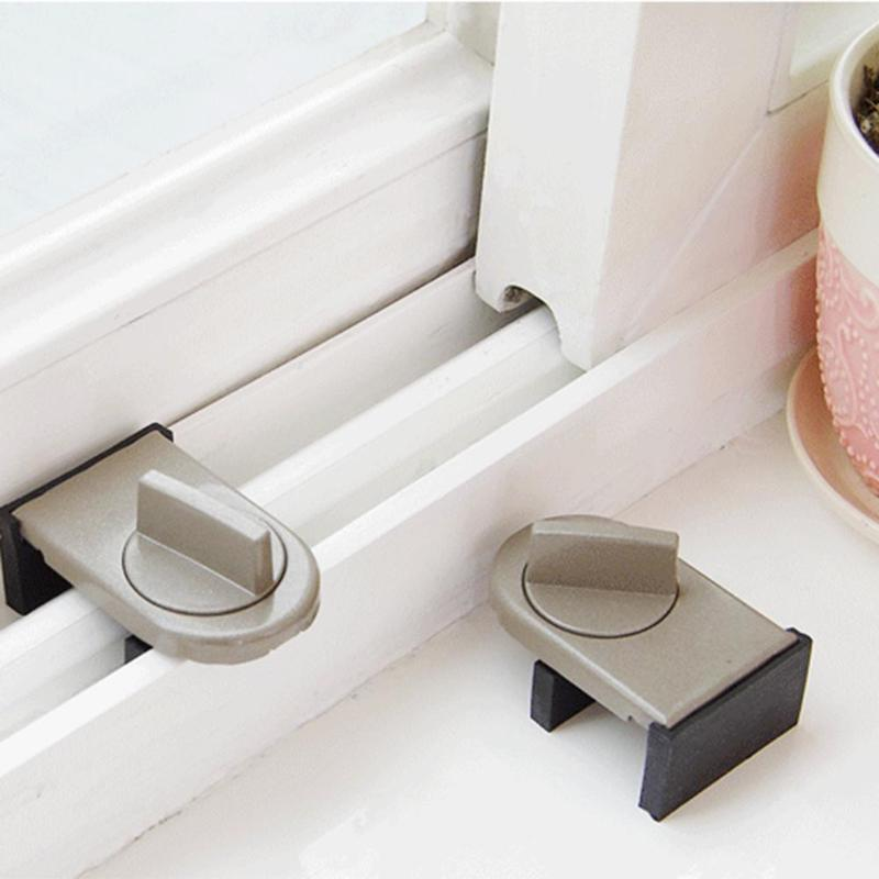 Baby Safety ABS Sliding Sash Stopper Cabinet Locks For Children Security Protection Anti-Theft Doors Drawer Cupboard Lock Care