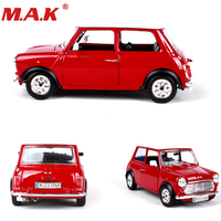 Collectible collection 1:24 diecast car 1969 MINI COOPER classic vehicle models sport cars toys red/green color