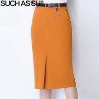 Women S Clothing Mid Long Skirt 2017 Spring Summer New High Waist Knit Pencil Skirt Black