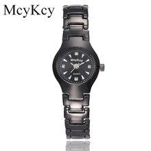 Новый mcykcy бренд популярным влюбленных Часы пары Бизнес Наручные часы Полный Нержавеющаясталь кварцевые часы Спорт Водонепроницаемый Лидер продаж