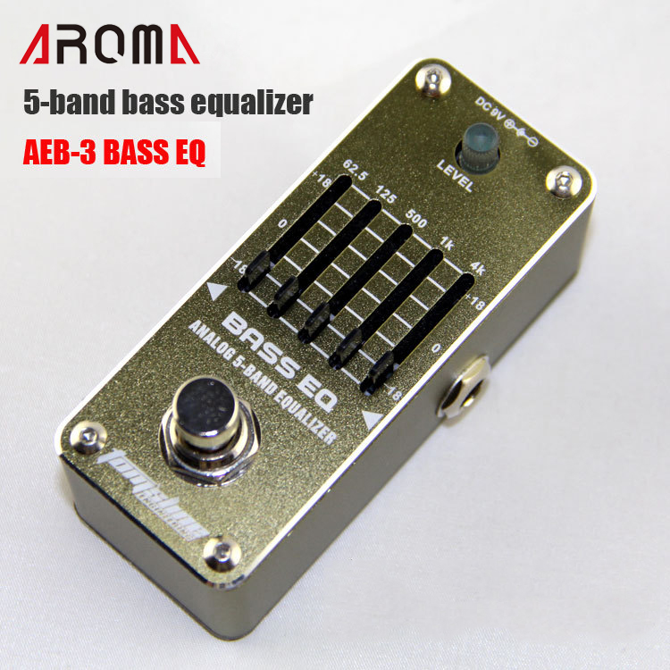 ФОТО AROMA AEB-3 BASS EQ 5-band Bass Equalizer Mini Analogue Effects True Bypass Design