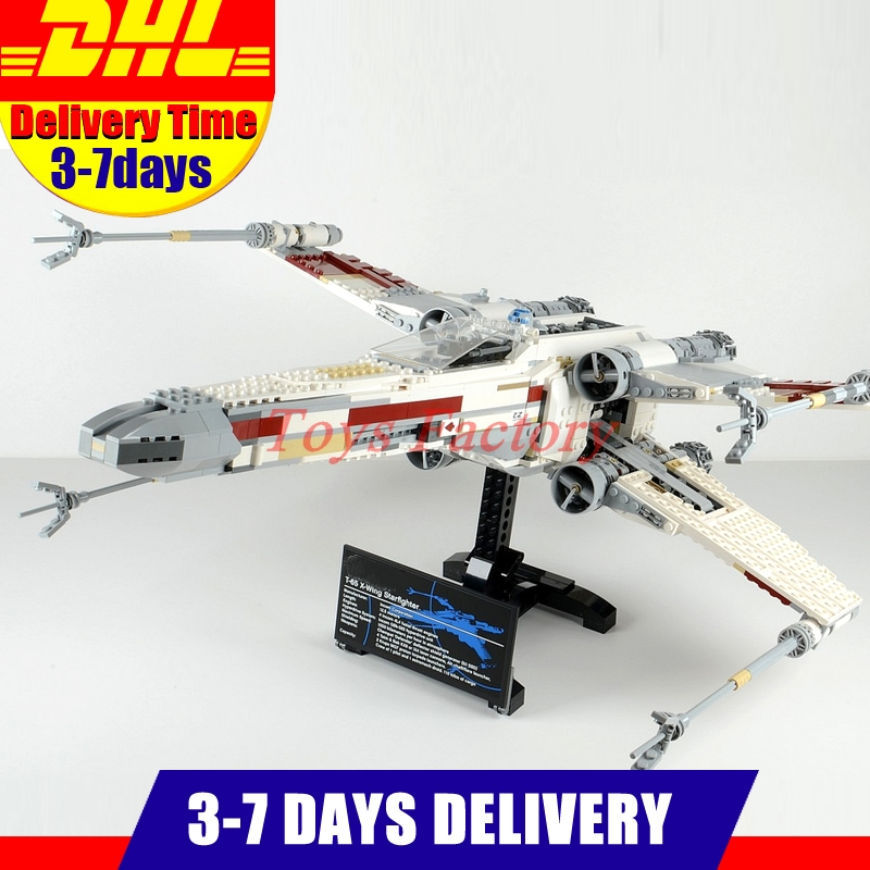 LEPIN 05039 Genuine Star Series  War UCS The X Rebel wing Red Five X Blocks wing Starfighter Set Building Bricks Toys DIY 10240 rollercoasters the war of the worlds