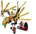 Bela Ninjagoed O Golden Dragon Building Blocks Define 258 pcs Bela 9793 Brinquedos Educativos Tijolos compatível com legoe