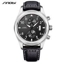 SINOBI de Mode Hommes Montres Hommes Locomotive Quartz Montre Date Étanche Sport Chronographe Horloge Armée Militaire Montre-Bracelet