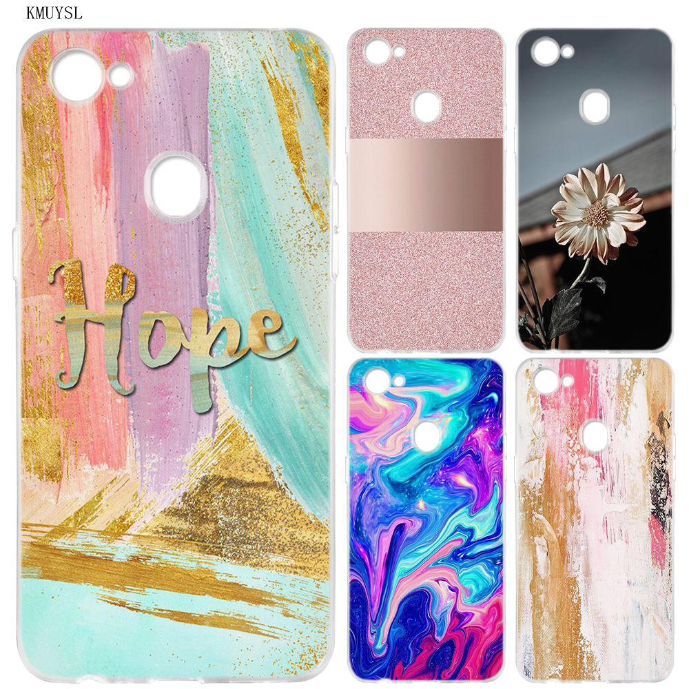 Agate Marble Marble Pattern Silicone Clear Soft Transparent Case Cover Shell For Oppo F5 Youth F7 F9 Pro F9pro A73 A7X