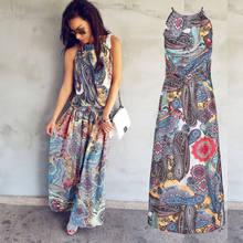d78e99d101a7 Gogoboi Multicolor Floral Print Button Split Front Flare Beach Wear Boho  Maxi Dress Women Short Sleeve halter Long Dress