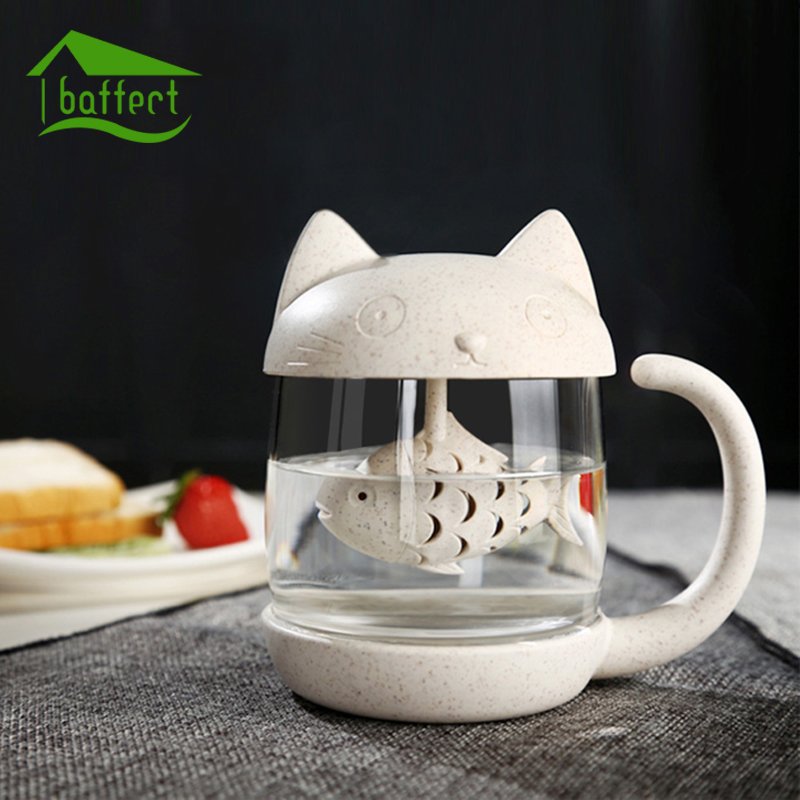 1PC Creative New Tea Strainer Cat Tea Infuser Cup Grasses Mug Teapot Teabags for Tea & Coffee Filter Drinkware Kitchen Tools