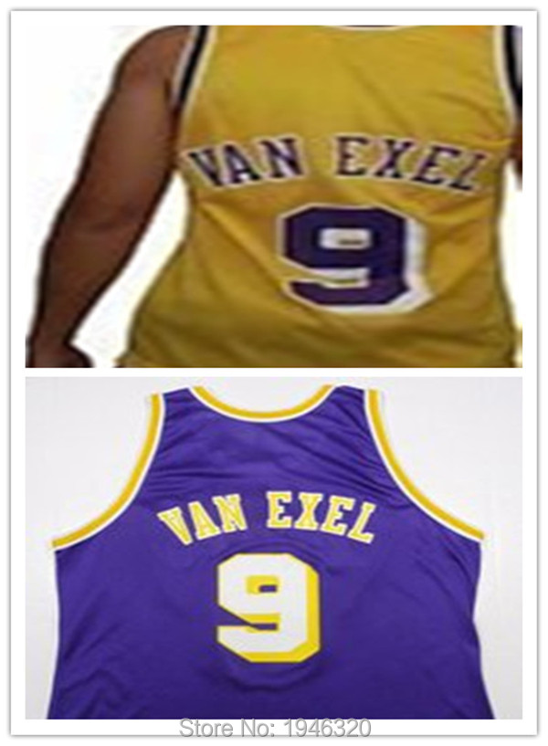 hot sale online f114e 642be 9 Nick Van Exel basketball jersey,buy stitched custom ...