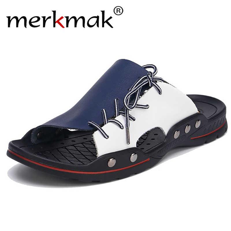 Мужские летние сандалии на плоской подошве мужские шлепанцы домашние или уличные пляжные вьетнамки мужские модные домашние Нескользящие воздухопроницаемые Тапочки