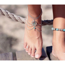 Women Summer Anklet New Boho Beach Beads Tassel Chain Anklet Barefoot Sandals Foot Jewelry for Woman Lady