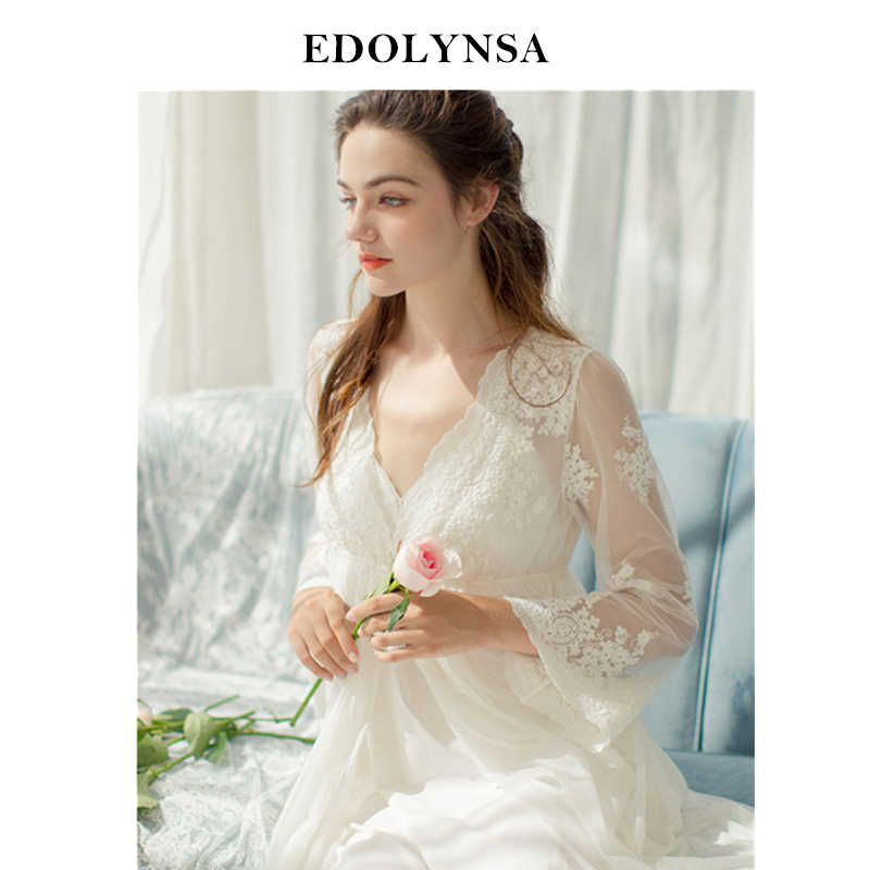 0f73fa8111 Lace Nightgowns Sleepshirts 2019 Robes Set Bathrobe Sets Sexy Nightdress  Bridesmaid Robes Set Peignoir Wedding Robe