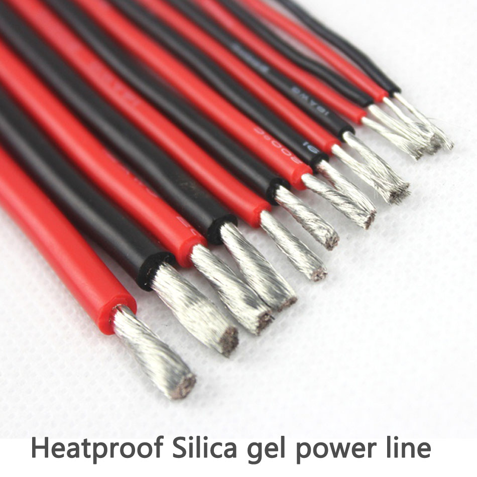 Silicon Wire 22/20/18/16/14/12/10/8/6 AWG Heatproof Soft Silicone Silica Gel Wire Cable For RC Lipo Battery