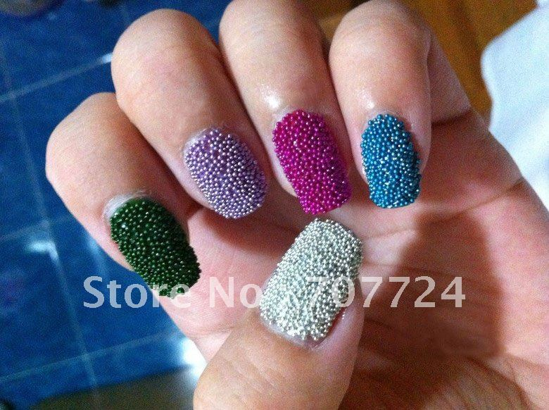 New Fashion trend Mix color! Caviar manicure Rainbow color Caviar ...