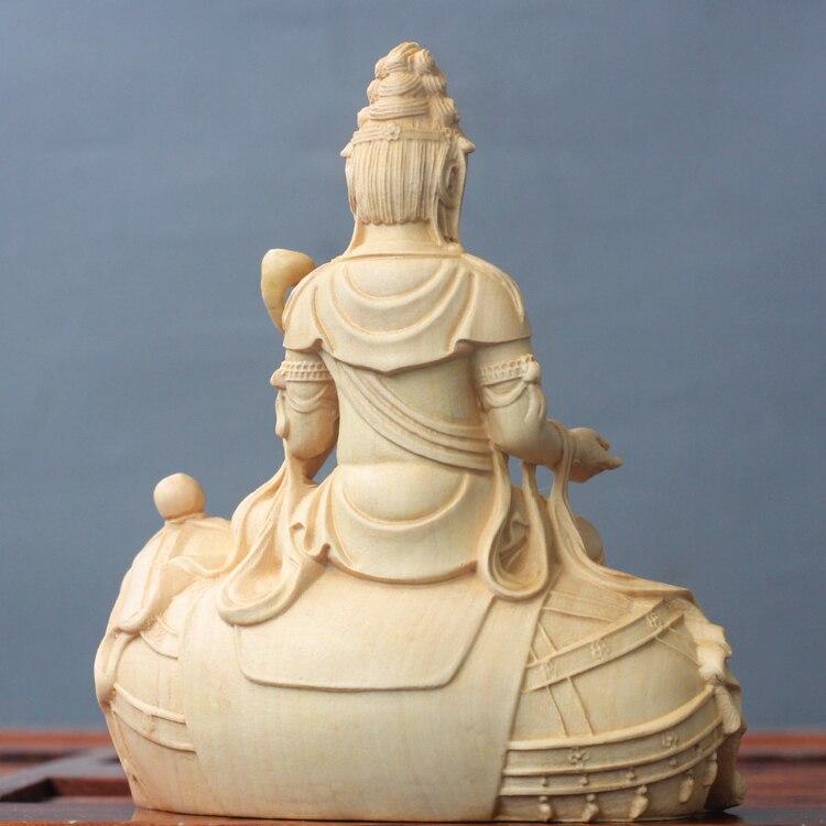 Buchsbaum Carving Buddha Statuen Massivholz Manjusri Bodhisattva Göttin Manjuist Samantabhadra Handwerk Geschenke Dekorationen Figur-in Figuren & Miniaturen aus Heim und Garten bei  Gruppe 3