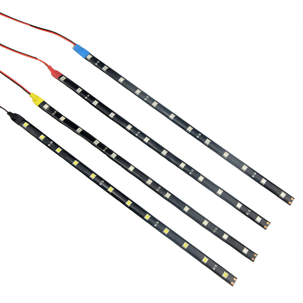 1Pcs SMD3528 Waterproof Car LED Strip 30/60 CM Car Mobile Cycle Decoration LED Light Strip White Yellow Blue Red Strip Light