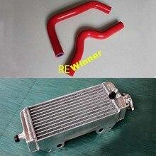 Dla SUZUKI RM85 2002-2010 akcesoria motocyklowe grzejnik Aluminiowy i wąż silikonowy