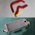 Para SUZUKI RM85 2002-2010 acessórios da motocicleta de Alumínio do radiador e mangueira de silicone