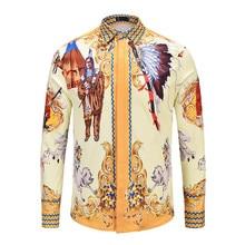 2018 Mens Hawaiian Gothic Shirt Men Homme Fashion Brand Cotton Luxury Fancy Shirts 3D Print Men Casual Slim Fit Tuxedo Shirts
