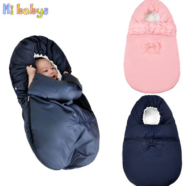 bfd7286bb3 Winter Envelope Newborn Sleeping Bag Cocoon Thicken Cotton Sleeping Bag for  Stroller Footmuff Waterproof Kid Sleepsack Slaapzak
