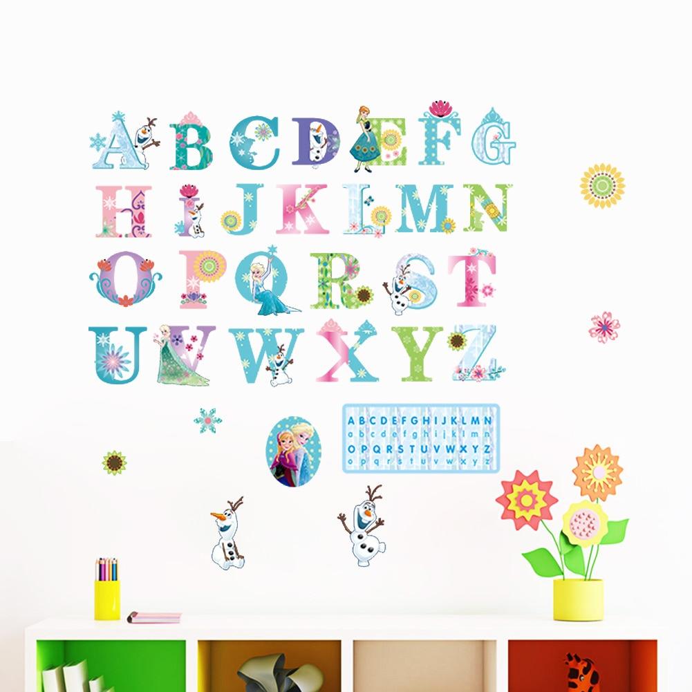 Alfabeto pegatinas de pared para habitaciones kdis habitación sala sofá TV home